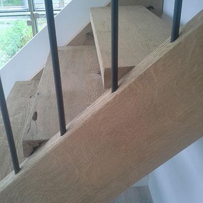 Escalier sur mesure artisabois menuiserie artisanale Herve de Broux