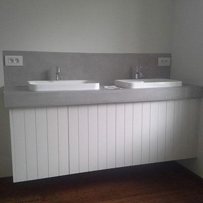 Salle d'eau sur mesure artisabois menuiserie artisanale Herve de Broux